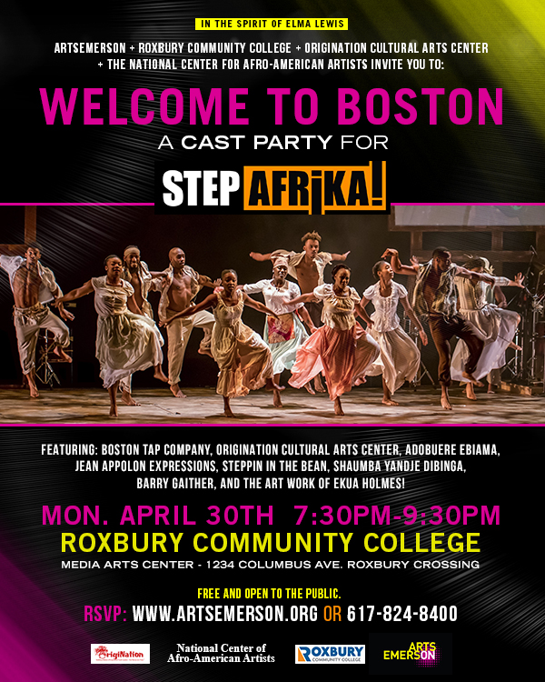 Welcome to boston a cast party for step afrika bda for 1234 get on the dance floor dance