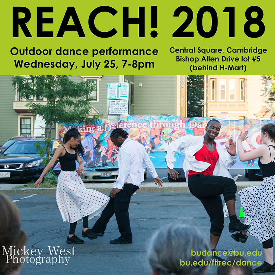 Boston University Dance Program: REACH Outdoor Dance Performance