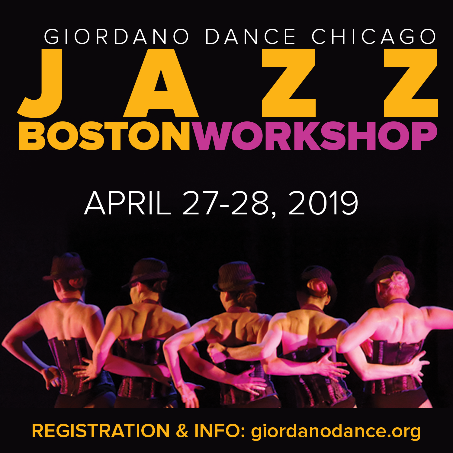 Boston University Dance Program: Giordano Dance Chicago 2 Day Jazz Dance Workshop
